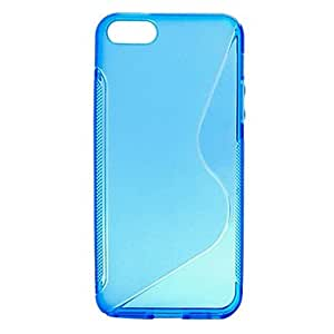 S Shape TPU Case for iPhone 4/4S (Assorted Colors) --- COLOR:Blue
