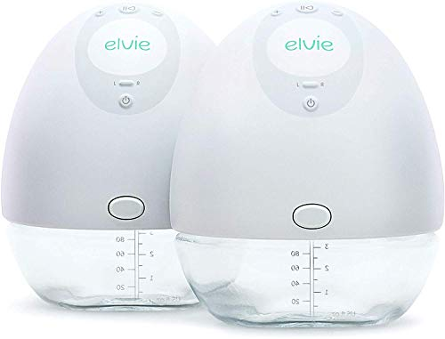 31LO0jwlfML - Elvie Pump Double Silent Wearable Breast Pump With App - Electric Hands-Free Portable Breast That Can Be Worn In-Bra