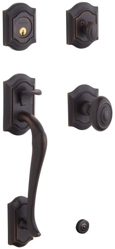 - Baldwin 85327.112.ENTR Bethpage Sectional Trim Handleset with Bethpage Knob, Venetian Bronze