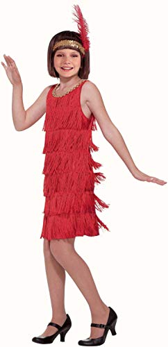 (Forum Novelties Red Flapper Child Costume,)