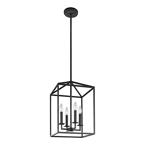 Sea Gull Lighting 5115004-839 Perryton Four-Light Hall or Foyer Light Fixture, Blacksmith Finish