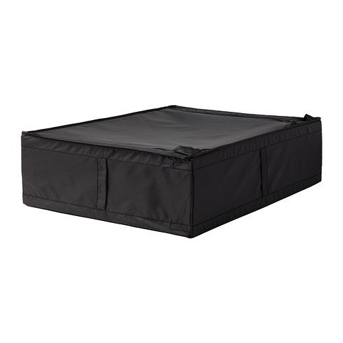 IKEA 2 Skubb Black Underbed Storage Case (27.25 x 21.75 x7.5)