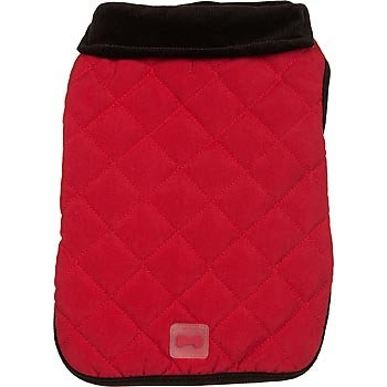 Petco Pup Crew Reversible Red Quilted Dog Jacket Xxs
