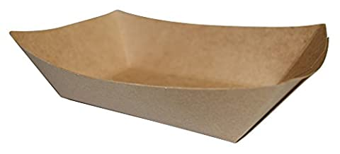 JA Kitchens Brown Paper Food Tray - 2lb Capacity - 250 Count (Paper Food Trays 2lb)