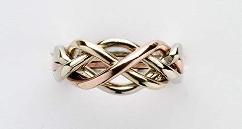 Ladies 4 Band Puzzle Ring Style 4L (Ladies Puzzle Ring)