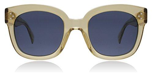 Celine CL41805/S XKG Champagne New Audrey Round Sunglasses Lens Category 3 - Sunglasses New Audrey