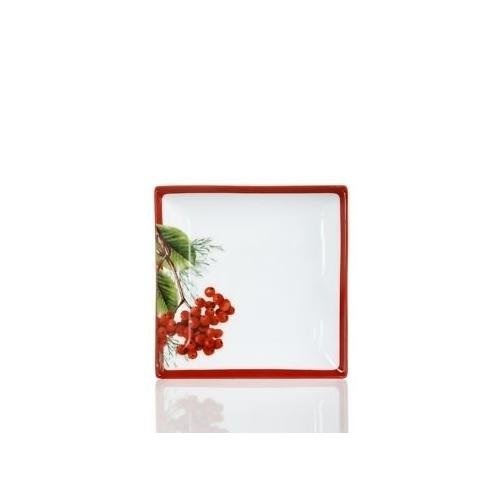 Charter Club Dinnerware, Red Berry Square Appetizer Plate