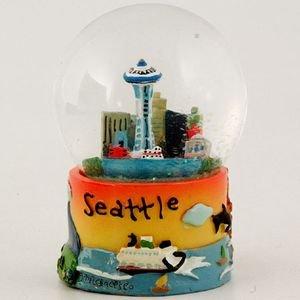 Seattle Snowglobe Water Globe Puff Hand Painted 65mm