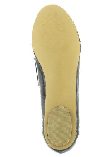 ANDREA cONTI sALE-ballerines femme-vernis noir chaussures en matelas grande taille
