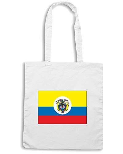 Shirt COLOMBIA Shopper Speed TM0181 Bianca FLAG Borsa 4aqxwz6C