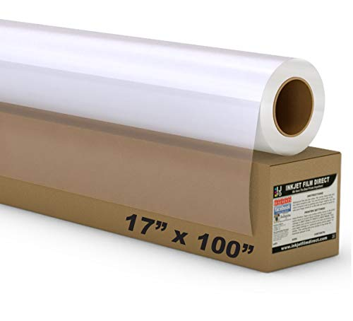 5 MIL - Waterproof Screen Printing Inkjet Film Transparency - 1 Roll (17 x 100)