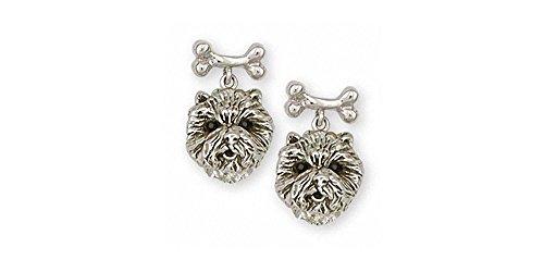 Westie Earrings Jewelry Sterling Silver Handmade West Highland White Terrier Earrings D10H-BNE