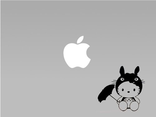 Hello Kitty Totoro - Vinyl Macbook / Laptop Decal Sticker Graphic