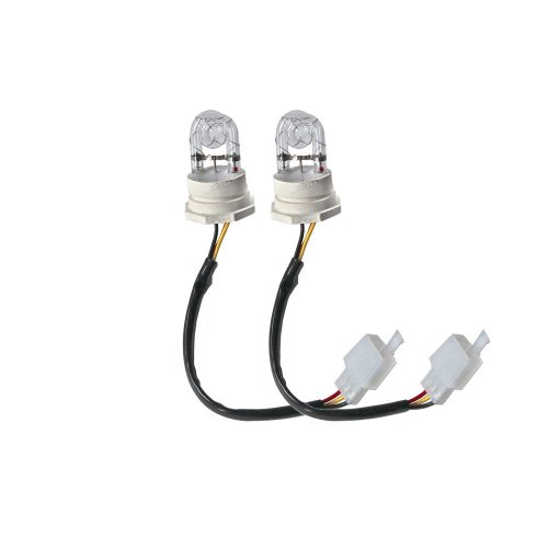 Ediors 2 White Hide Away Strobe Tubes for 80w / 120w Kits Headlight Replacement Bulbs