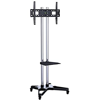 HEAVY DUTY Mobile TV Stand With Shelf U0026 Wheels For Exhibitions, Display,  School Etc