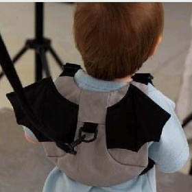 HuntGold Bat Style Kid Child Boy Toddler Safety Harness Backpack Bag Lead Strap Knapsack