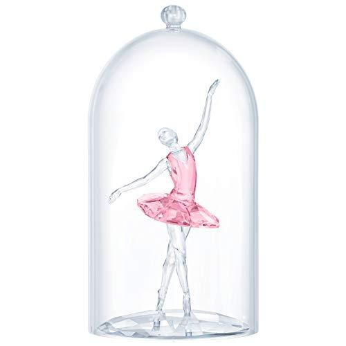 Swarovski Ballerina Under Bell jar, Clear/Pink