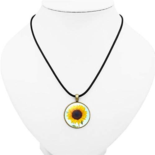 RUIZHEN Dainty Tiny Chrysanthemum Sunflower Stud Earrings for Girls