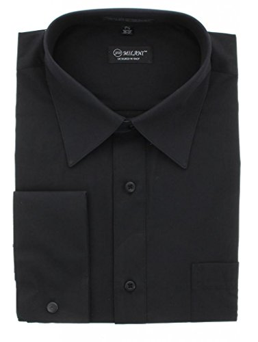 Milani Men's Dress Shirt With French Cuffs 17