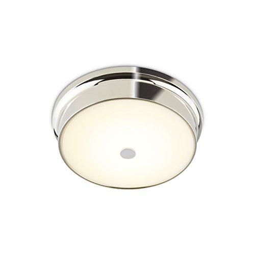 Frosted Glass Chrome Flush Mount Ceiling Light - Home Lighting | 12