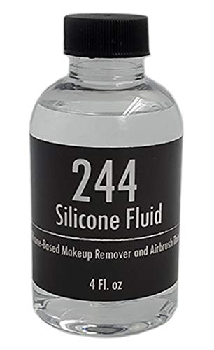 244 Wonder Fluid 4 oz / 113 g - Silicone Airbrush Makeup Thinner, Non Toxic Makeup Remover, Fragrance Free