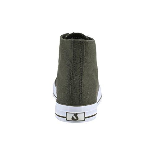 Unisexe Sneakers Tissu Chaussures Green Elara Sport De Loisirs Top High Dk OxB4dqR6