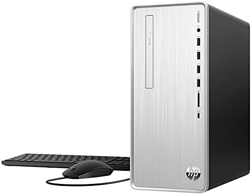 2021 Newest HP Pavilion Desktop, 10th Gen Intel Core i7-10700F 8-Core Processor, AMD Radeon RX 550, 64GB RAM, 1TB SSD + 2TB HDD, DVD, Wi-Fi, HDMI, Bluetooth, Windows 10 Home, KKE Mousepad, Silver