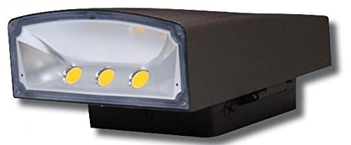 50 Watt LED Wall Pack DLC - Slim Area Light Multi Volt Security Light UL Listed DLC Approved (4000 Kelvin) by Contractor Lighting