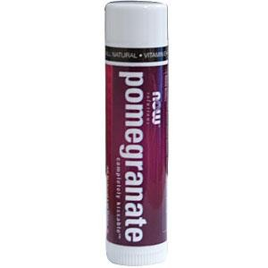 NOW Foods Pomegranate Lip Balm - 0.15 Oz