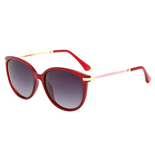 for protection Marco Sol driving Polarizadas De Redondo uv Wine Mujer Red Zhuhaijq Grey Moda Gafas A58xqvHAwX