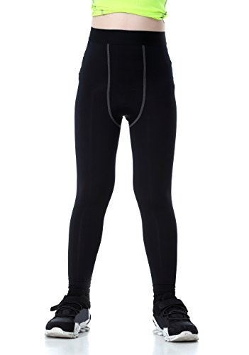 LNJLVI Boys & Girls Compression Tights Base Layer Thermal Under Tights/Leggings (5) (Compression Pants For Kids)