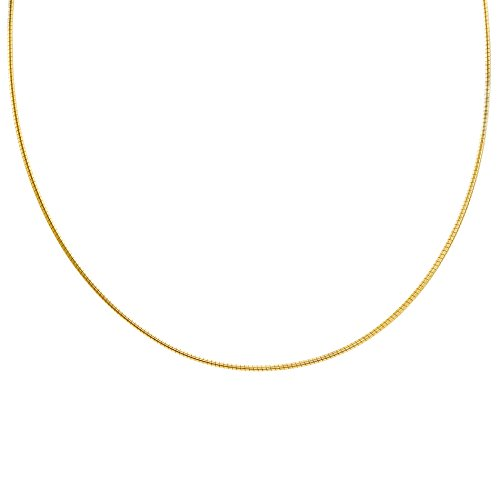 [SALE Women's Sterling Silver 3 Colors Omega Choker Necklace (Gold)] (Boys Snowflake Costume Uk)