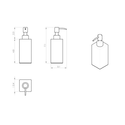 Gedy Gedy NE81-13 Square Polished Soap Dispenser, Chrome