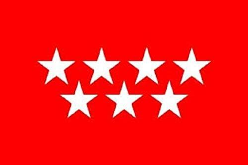 Durabol Bandera de Madrid Comunidades autónomas de España 60 * 90 cm Satin 2 Anillas metálicas fijadas en el Dobladillo (Madrid): Amazon.es: Jardín