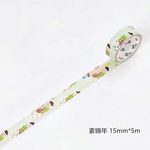 JIAODIA Cinta Decorativa Summer Birds Foil Masking Washi ...