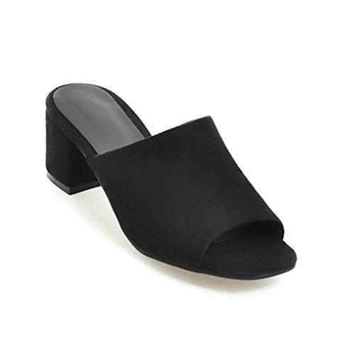 Ouvert Casual Talons Habillées Brut Noir Slide L'extérieur Coin Orteil Assiettes Été Glisser Femmes Chaussures Sandales Sur qwPxSS