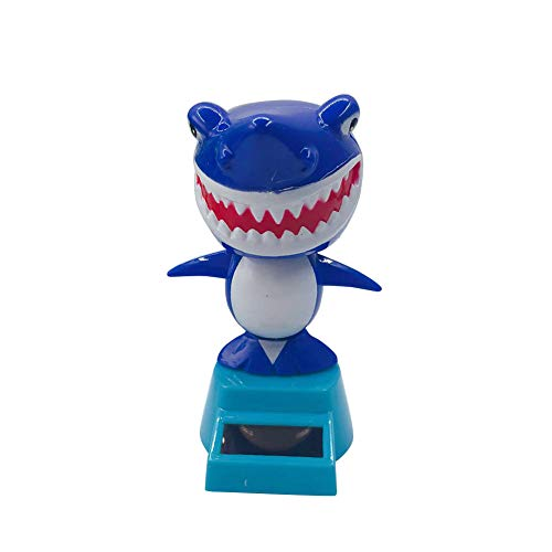 super1798 Cartoon Mini Cute Shark Solar Swing Car Auto Interior Dashboard Decoration Gift Blue by super1798 (Image #1)