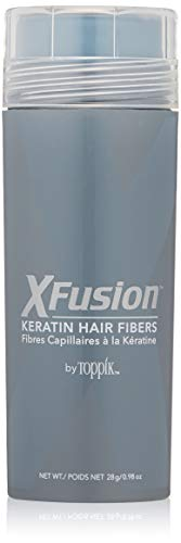 X-Fusion Keratin Hair Fibers for Unisex, Light Brown, Net WT 28g/ 0.98 oz