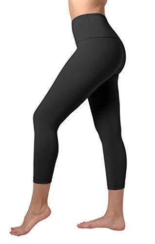 90 Degree By Reflex – High Waist Tummy Control Shapewear – Power Flex Capri Legging – Quality Guaranteed - Black Large