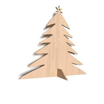 3 X Weihnachtsbaum Tannenbaum Weihnachten Chrismas Form Holz