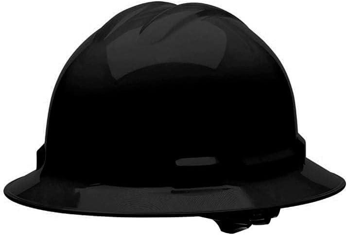 Malta Dynamics 4 pt. Full Brim Style Hard Hat - Multiple Colors Available (1 Pack, Black) - -