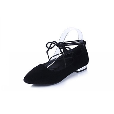 Cómodo y elegante soporte de zapatos de las mujeres pisos primavera verano otoño invierno comodidad novedad pu piel sintética boda oficina y carrera partido y vestido de noche stiletto talón otros negro