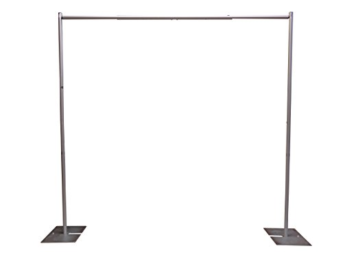 OnlineEEI Premier Portable Pipe and Drape Backdrop Kit 8ft x 10ft (No Drapes) (Wedding Backdrop Drapes)