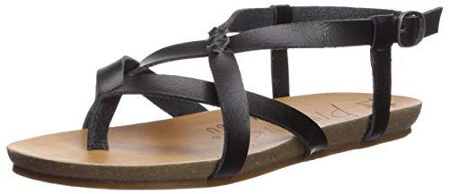 Blowfish Women's Granola-B Flat Sandal, Black Dyecut, 6 Medium US