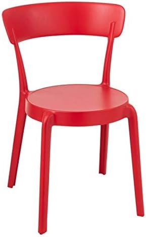 Paris Prix Chaise Design Kurt 78cm Rouge: