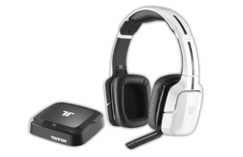Tritton - Auriculares Inalámbricos Kunai, Color Blanco (PS4, PS3, Xbox 360,