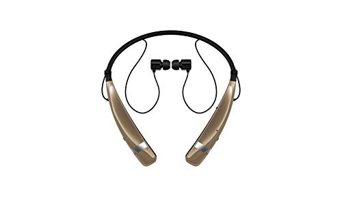 LG Electronics Tone Pro HBS-760 Bluetooth Wireless Stereo Headset - Retail Packaging - Gold
