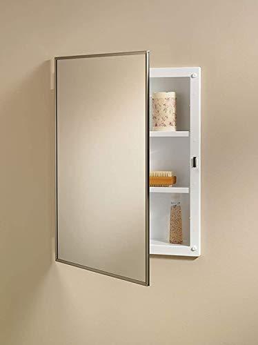 Cabinet Medicine Framed Metal (Jensen 84018CH Basic Styleline Recessed Mount Medicine Cabinet)