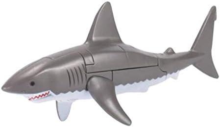 IPOTCH Juguete Educativo Robot / Transformación con Deformación de Figura de Animal Marino para Niño y Adulto - Tiburón, 18.5 x 7.5 cm