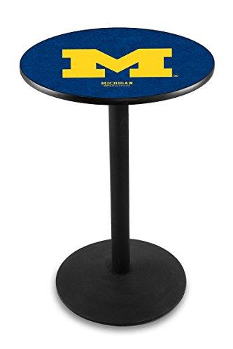 Holland Bar Stool L214B University Michigan Officially Licensed Pub Table, 28